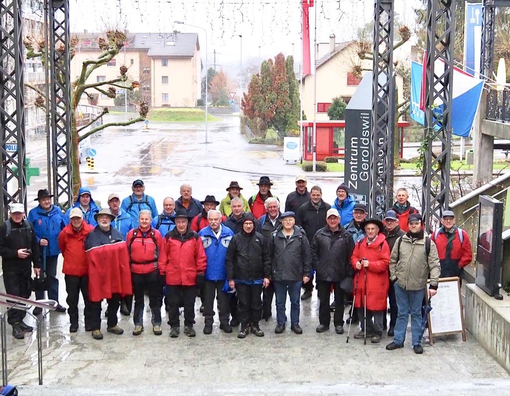 Wintermarsch der Männerriege Bremgarten vom 27. Dezember 2019